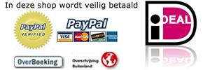 veilig betalen met de bekende betaalsystemen.