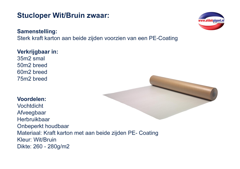 Extreem Professionele Stucloper dubbelzijdig PE-gecoat 130 cm, 280 g/m2, 60m² SX41