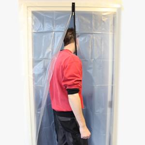 Stofdeur (snel een ruimte afschermen)