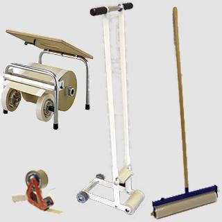 Hulpmiddelen (voor het plaatsen van diverse afdekmaterialen)